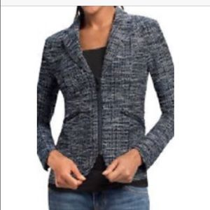 CAbi Textured Zipper Front Blazer